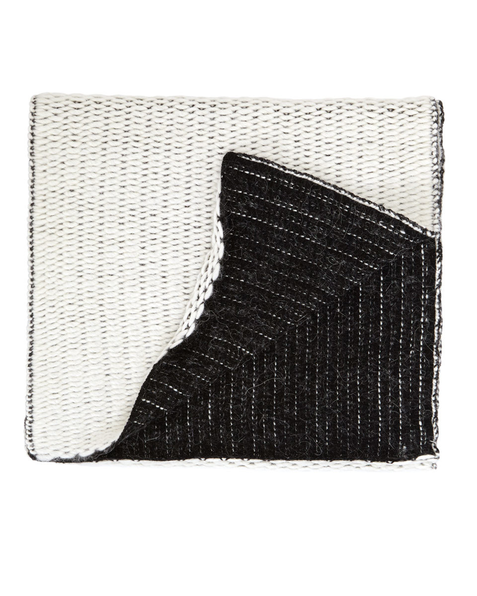 Selina Textured Scarf - predominant colour: ivory/cream; secondary colour: black; occasions: casual; type of pattern: light; style: regular; size: standard; material: fabric; pattern: plain; season: a/w 2016