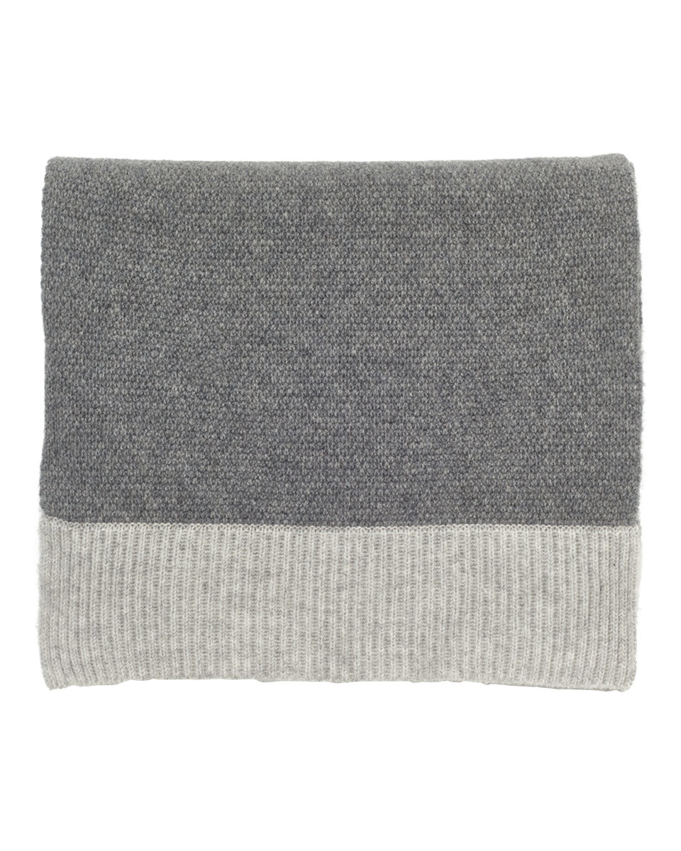 Savannah Cashmere Scarf - predominant colour: mid grey; occasions: casual; type of pattern: standard; style: regular; size: large; pattern: colourblock; material: cashmere; season: a/w 2016; wardrobe: highlight