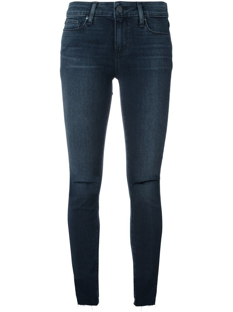 'kalea' Distressed Skinny Jeans, Women's, Blue - style: skinny leg; length: standard; pattern: plain; pocket detail: traditional 5 pocket; waist: mid/regular rise; predominant colour: navy; occasions: casual; fibres: cotton - stretch; jeans detail: whiskering, rips; texture group: denim; pattern type: fabric; wardrobe: basic; season: a/w 2016