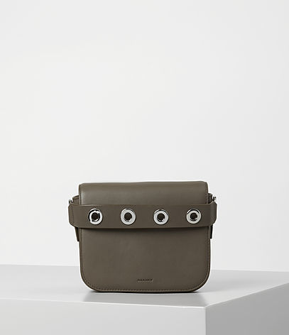 Ikuya Clutch - predominant colour: khaki; occasions: casual; type of pattern: standard; style: messenger; length: shoulder (tucks under arm); size: small; material: leather; pattern: plain; finish: plain; season: a/w 2016