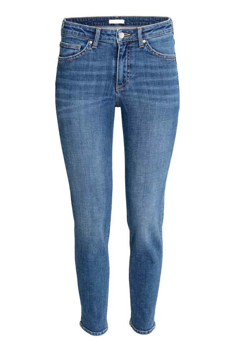 Slim Regular Jeans - length: standard; pattern: plain; pocket detail: traditional 5 pocket; style: slim leg; waist: mid/regular rise; predominant colour: navy; occasions: casual; fibres: cotton - stretch; jeans detail: whiskering, washed/faded; texture group: denim; pattern type: fabric; wardrobe: basic; season: a/w 2016