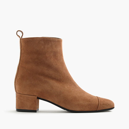 Carel Estime™ Suede Boots - predominant colour: camel; occasions: casual; material: suede; heel height: mid; heel: block; toe: pointed toe; boot length: ankle boot; style: standard; finish: plain; pattern: plain; wardrobe: basic; season: a/w 2016