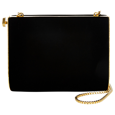 Karlie Velvet Clutch, Black - predominant colour: black; occasions: evening, occasion; type of pattern: standard; style: clutch; length: hand carry; size: small; material: velvet; pattern: plain; finish: plain; season: a/w 2016; trends: velvet
