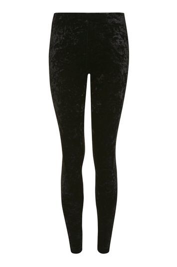 Velvet Leggings - pattern: plain; waist detail: elasticated waist; waist: mid/regular rise; predominant colour: black; occasions: casual, creative work; length: ankle length; fibres: polyester/polyamide - stretch; fit: skinny/tight leg; pattern type: fabric; texture group: velvet/fabrics with pile; style: standard; trends: glossy girl, rebel girl, velvet; season: a/w 2016; wardrobe: highlight