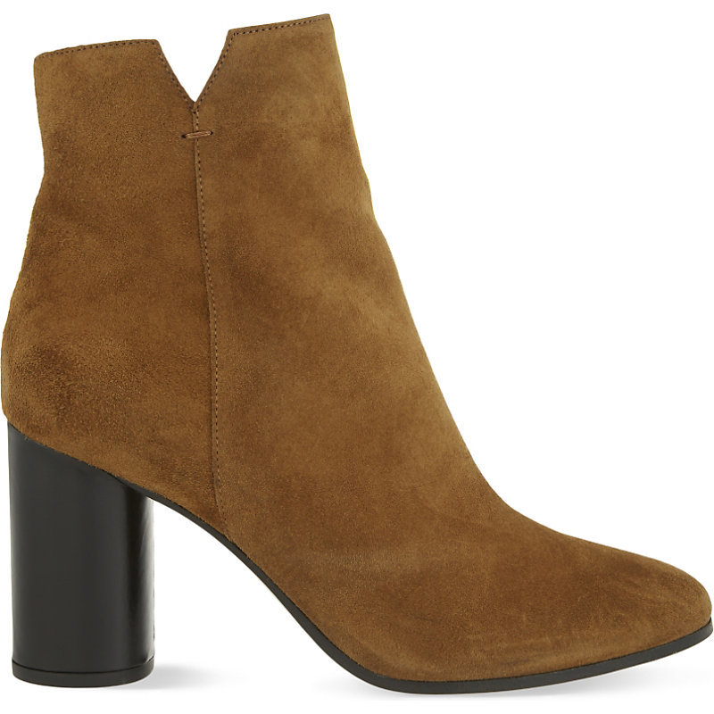 Foly Suede Heeled Ankle Boots, Women's, Eur 39 / 6 Uk Women, Camel - predominant colour: turquoise; occasions: casual, creative work; material: suede; heel height: high; heel: cone; toe: round toe; boot length: ankle boot; style: cowboy; finish: plain; pattern: plain; season: a/w 2016; wardrobe: highlight