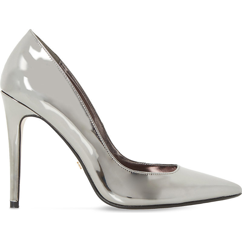 Aiyana Metallic Courts, Women's, Eur 36 / 3 Uk Women, Black - predominant colour: silver; occasions: evening, occasion; material: leather; heel height: high; heel: stiletto; toe: pointed toe; style: courts; finish: metallic; pattern: plain; season: a/w 2016; wardrobe: event