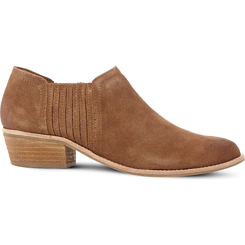 Courtst Suede Ankle Boots, Women's, Eur 39 / 6 Uk Women, Tan Suede - predominant colour: camel; occasions: casual; material: suede; heel height: flat; heel: block; toe: round toe; boot length: ankle boot; style: standard; finish: plain; pattern: plain; wardrobe: basic; season: a/w 2016