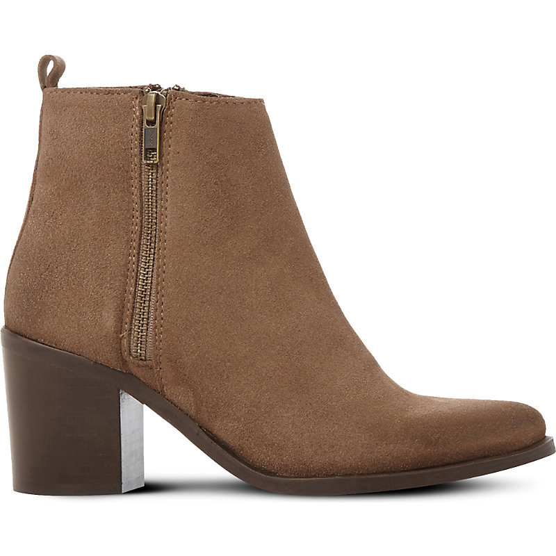 Porta Leather Ankle Boots, Women's, Eur 41 / 8 Uk Women, Taupe Suede - predominant colour: camel; occasions: casual; material: leather; heel height: high; heel: block; toe: round toe; boot length: ankle boot; style: standard; finish: plain; pattern: plain; season: a/w 2016; wardrobe: highlight
