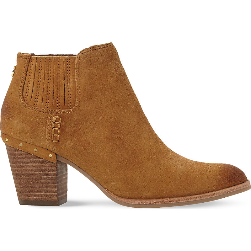 Tinker Suede Ankle Boots, Women's, Eur 40 / 7 Uk Women, Tan Suede - predominant colour: camel; occasions: casual; material: suede; heel height: mid; heel: block; toe: round toe; boot length: ankle boot; style: standard; finish: plain; pattern: plain; wardrobe: basic; season: a/w 2016