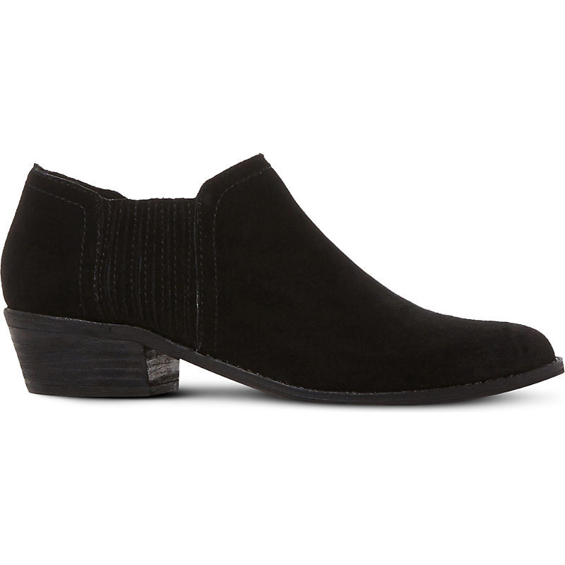 Courtst Suede Ankle Boots, Women's, Eur 40 / 7 Uk Women, Black Suede - predominant colour: black; occasions: casual; material: suede; heel height: mid; heel: block; toe: round toe; boot length: ankle boot; style: standard; finish: plain; pattern: plain; wardrobe: basic; season: a/w 2016