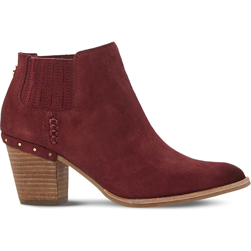 Tinker Suede Ankle Boots, Women's, Eur 36 / 3 Uk Women, Burgundy Suede - predominant colour: burgundy; occasions: casual; material: suede; heel height: mid; heel: block; toe: round toe; boot length: ankle boot; style: standard; finish: plain; pattern: plain; season: a/w 2016; wardrobe: highlight