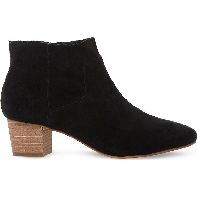 Allday Suede Western Ankle Boots, Women's, Eur 41 / 8 Uk Women, Black Suede - predominant colour: black; occasions: casual; material: suede; heel height: mid; heel: block; toe: round toe; boot length: ankle boot; style: standard; finish: plain; pattern: plain; season: a/w 2016
