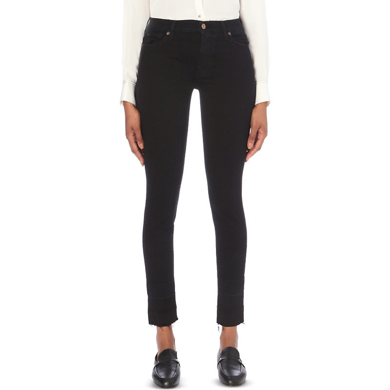 Super Skinny High Rise Jeans, Women's, Austin Black - style: skinny leg; length: standard; pattern: plain; waist: high rise; pocket detail: traditional 5 pocket; predominant colour: black; occasions: casual; fibres: cotton - stretch; texture group: denim; pattern type: fabric; wardrobe: basic; season: a/w 2016
