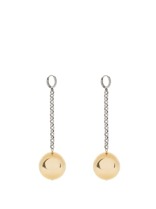 Blind Earrings - predominant colour: gold; occasions: evening, occasion; style: drop; length: long; size: standard; material: chain/metal; fastening: pierced; finish: metallic; season: a/w 2016; wardrobe: event