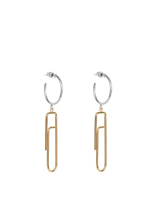 Glum Earrings - predominant colour: gold; occasions: evening, occasion; style: drop; length: long; size: large/oversized; material: chain/metal; fastening: pierced; finish: metallic; season: a/w 2016; wardrobe: event