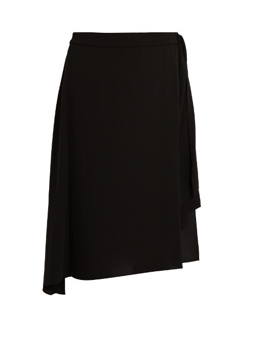 Brenndah Skirt - length: below the knee; pattern: plain; style: full/prom skirt; fit: loose/voluminous; waist: mid/regular rise; predominant colour: black; occasions: casual, work, creative work; fibres: silk - mix; hip detail: adds bulk at the hips; pattern type: fabric; texture group: jersey - stretchy/drapey; wardrobe: basic; season: a/w 2016
