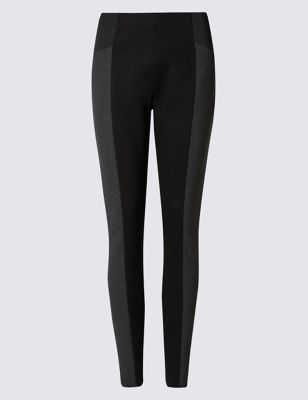 Sculpt & Lift Leggings - length: standard; pattern: striped; style: leggings; waist: mid/regular rise; secondary colour: mid grey; predominant colour: black; occasions: casual; fibres: viscose/rayon - stretch; texture group: jersey - clingy; fit: skinny/tight leg; pattern type: fabric; multicoloured: multicoloured; season: a/w 2016; wardrobe: highlight
