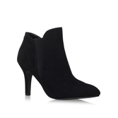Brushin - predominant colour: black; occasions: casual, evening, creative work; material: suede; heel height: high; heel: stiletto; toe: pointed toe; boot length: ankle boot; style: standard; finish: plain; pattern: plain; season: a/w 2016