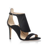 Denita2 - predominant colour: black; occasions: evening, occasion; material: satin; heel height: high; ankle detail: ankle strap; heel: stiletto; toe: open toe/peeptoe; style: strappy; finish: plain; pattern: plain; season: a/w 2016; wardrobe: event