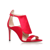 Denita2 - predominant colour: true red; occasions: evening, occasion; material: satin; heel height: high; ankle detail: ankle strap; heel: stiletto; toe: open toe/peeptoe; style: courts; finish: plain; pattern: plain; season: a/w 2016; wardrobe: event