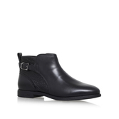 Demi Croc - predominant colour: black; occasions: casual, work, creative work; material: leather; heel height: flat; heel: block; toe: round toe; boot length: ankle boot; style: standard; finish: plain; pattern: plain; wardrobe: basic; season: a/w 2016