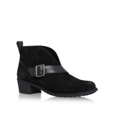 Wright Belted - predominant colour: black; occasions: casual, creative work; material: suede; heel height: mid; heel: block; toe: round toe; boot length: ankle boot; style: standard; finish: plain; pattern: plain; wardrobe: basic; season: a/w 2016
