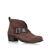 Wright Belted - predominant colour: chocolate brown; occasions: casual, creative work; material: suede; heel height: mid; embellishment: buckles; heel: block; toe: round toe; boot length: ankle boot; style: standard; finish: plain; pattern: plain; wardrobe: basic; season: a/w 2016