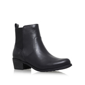 Keller Croco - predominant colour: black; occasions: casual, creative work; material: leather; heel height: mid; heel: block; toe: round toe; boot length: ankle boot; style: standard; finish: plain; pattern: plain; season: a/w 2016