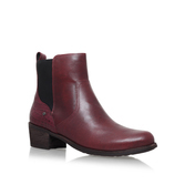 Keller Croco - predominant colour: burgundy; occasions: casual, creative work; material: leather; heel height: mid; heel: block; toe: round toe; boot length: ankle boot; style: standard; finish: plain; pattern: plain; season: a/w 2016; wardrobe: highlight