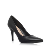 Flagship - predominant colour: black; occasions: evening; material: leather; heel height: high; heel: stiletto; toe: pointed toe; style: courts; finish: plain; pattern: plain; season: a/w 2016