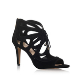 Calivia - predominant colour: black; occasions: evening; material: suede; heel height: high; ankle detail: ankle tie; heel: stiletto; toe: open toe/peeptoe; style: strappy; finish: plain; pattern: plain; season: a/w 2016; wardrobe: event