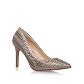Narissa2 - predominant colour: nude; occasions: evening; material: fabric; heel height: high; heel: stiletto; toe: pointed toe; style: slingbacks; finish: metallic; pattern: patterned/print; season: a/w 2016; trends: metallics