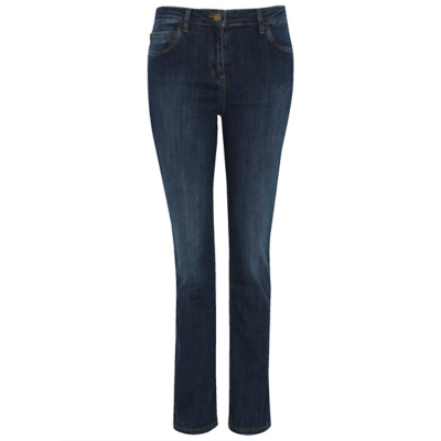 Wonderform Straight Jeans Dark Denim - style: straight leg; length: standard; pattern: plain; pocket detail: traditional 5 pocket; waist: mid/regular rise; predominant colour: denim; occasions: casual; fibres: cotton - stretch; jeans detail: shading down centre of thigh; texture group: denim; pattern type: fabric; wardrobe: basic; season: a/w 2016