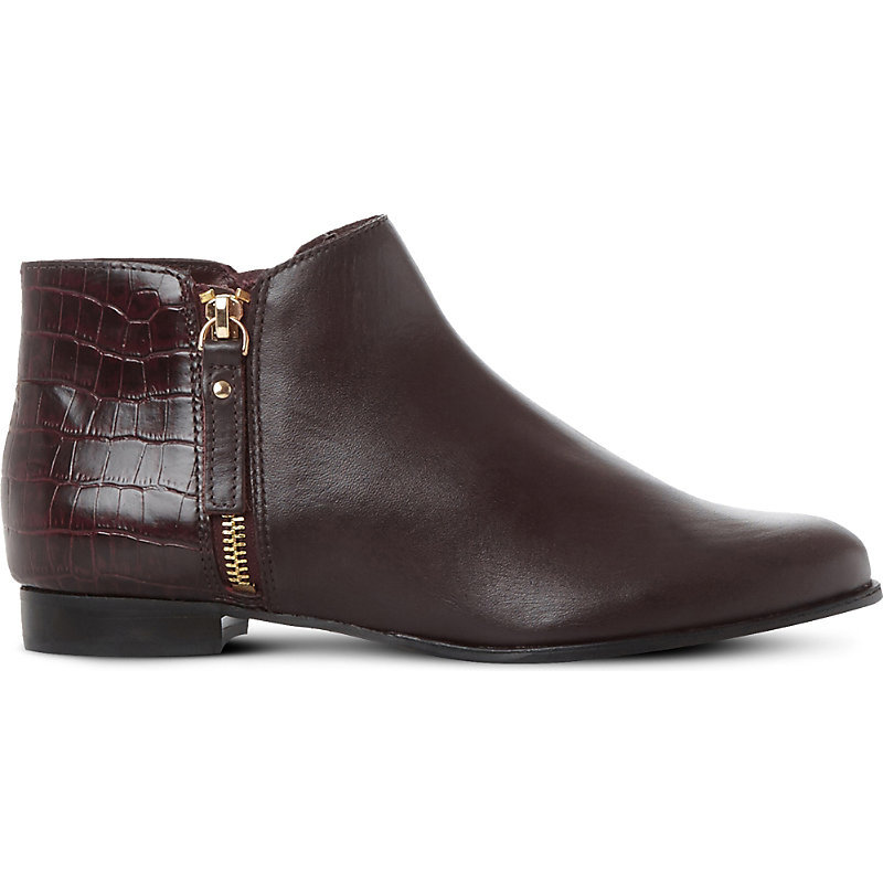 Pander Textured Leather Ankle Boots, Women's, Eur 38 / 5 Uk Women, Burgundy Leather - predominant colour: burgundy; occasions: casual, creative work; material: leather; heel height: mid; heel: block; toe: pointed toe; boot length: ankle boot; style: standard; finish: plain; pattern: plain; season: a/w 2016; wardrobe: highlight