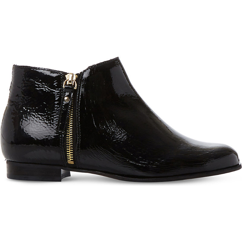 Pander Patent Leather Ankle Boots, Women's, Eur 39 / 6 Uk Women, Black Patent - predominant colour: navy; occasions: casual, creative work; material: leather; heel height: flat; heel: block; toe: round toe; boot length: ankle boot; style: standard; finish: plain; pattern: plain; wardrobe: basic; season: a/w 2016