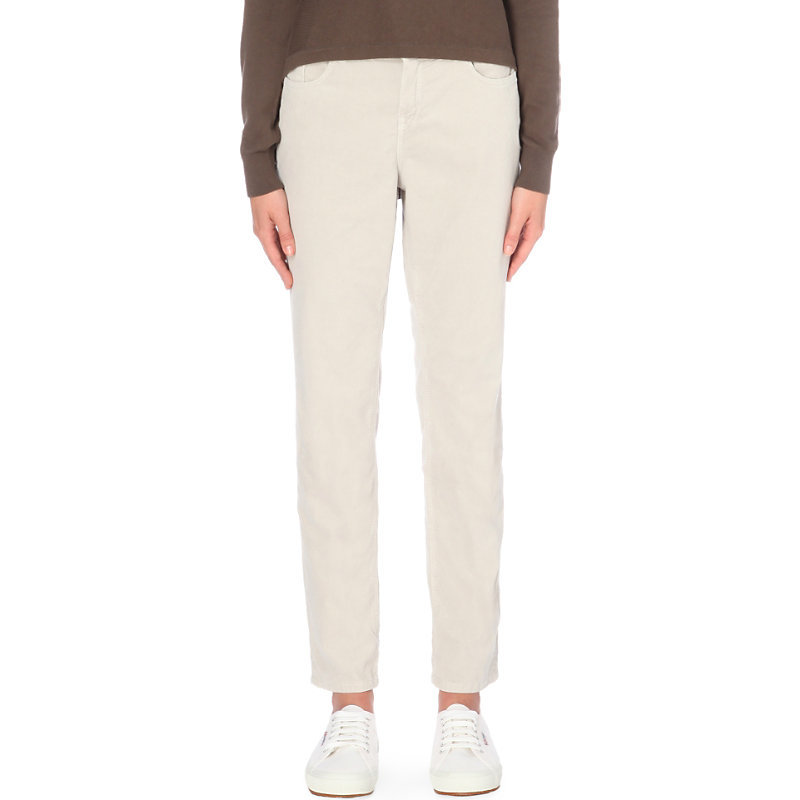 Brompton Boyfriend Fit Corduroy Trousers, Women's, Natural - length: standard; pattern: plain; waist: mid/regular rise; predominant colour: ivory/cream; occasions: casual, creative work; fibres: cotton - stretch; texture group: corduroy; fit: straight leg; pattern type: fabric; style: standard; wardrobe: basic; season: a/w 2016