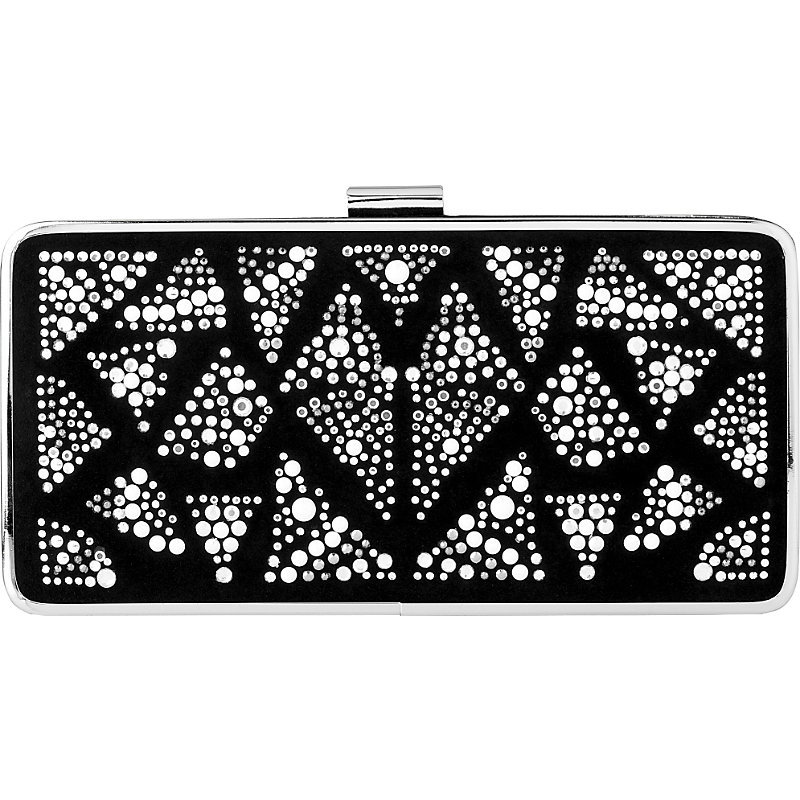 Nora Embellished Clutch, Women's, Bla Crystal - predominant colour: black; occasions: evening, occasion; type of pattern: light; style: clutch; length: hand carry; size: small; material: fabric; embellishment: crystals/glass; pattern: plain; finish: plain; season: a/w 2016; wardrobe: event