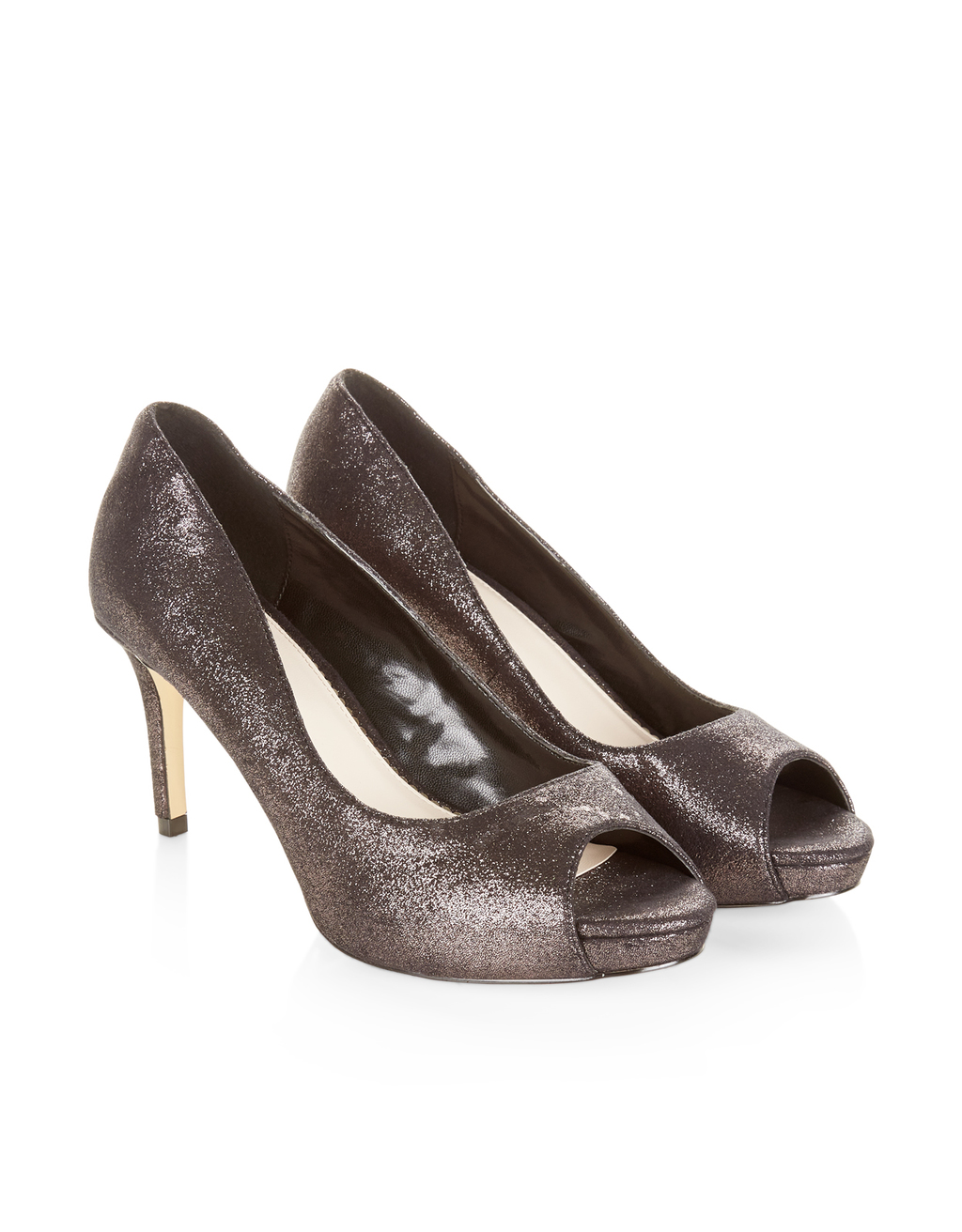 Lana Sparkle Peep Toe - predominant colour: silver; occasions: evening, occasion; material: leather; heel height: high; heel: stiletto; toe: open toe/peeptoe; style: courts; finish: metallic; pattern: plain; season: a/w 2016; wardrobe: event