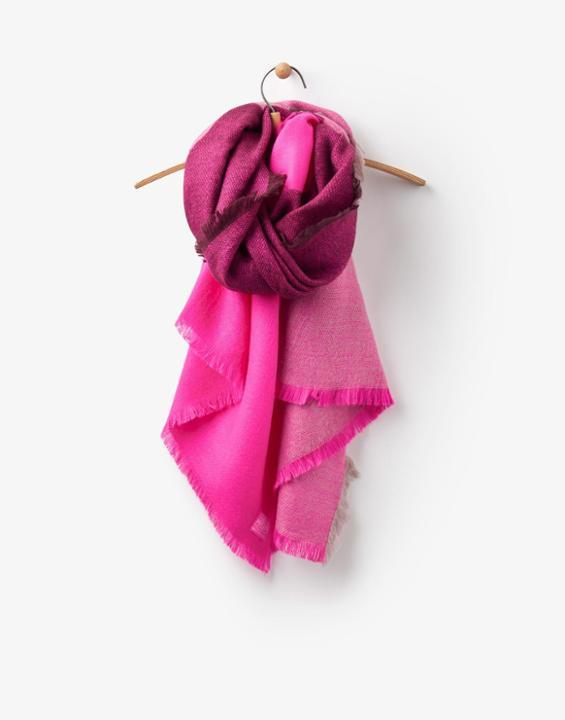 Berkley Scarf True Pink - predominant colour: hot pink; secondary colour: magenta; occasions: casual, work, creative work; type of pattern: standard; style: regular; size: large; material: knits; pattern: patterned/print; multicoloured: multicoloured; season: a/w 2016