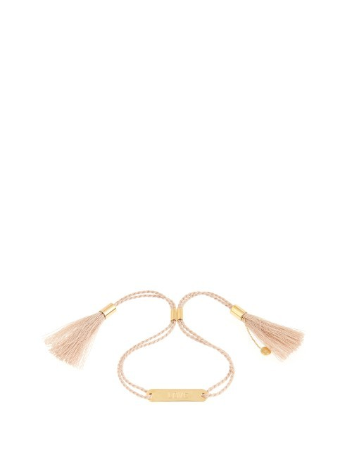 Love Bracelet - predominant colour: gold; occasions: evening, occasion; style: friendship/tie; size: standard; material: leather; finish: patent; season: a/w 2016; wardrobe: event