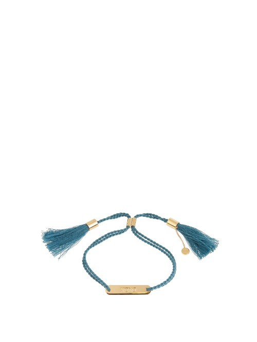 Xoxo Bracelet - predominant colour: royal blue; occasions: casual, creative work; style: friendship/tie; size: standard; material: fabric/cotton; finish: plain; season: a/w 2016; wardrobe: highlight
