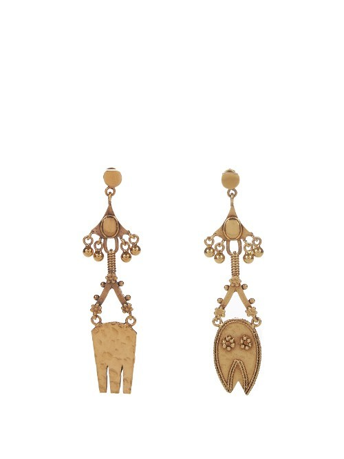 Lyzbeth Earrings - predominant colour: gold; occasions: casual, creative work; style: drop; length: mid; size: standard; material: chain/metal; fastening: pierced; finish: plain; season: a/w 2016; wardrobe: highlight