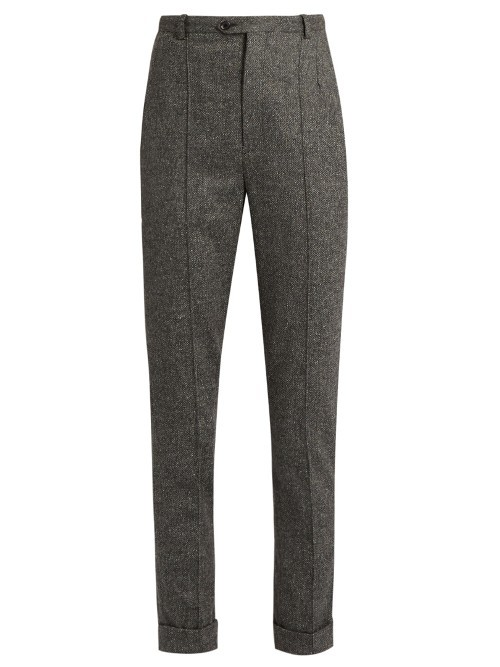 Katja Slim Fit Cropped Trousers - pattern: plain; waist: mid/regular rise; predominant colour: charcoal; occasions: casual, creative work; length: ankle length; fibres: polyester/polyamide - stretch; fit: slim leg; pattern type: fabric; texture group: woven light midweight; style: standard; pattern size: standard (bottom); wardrobe: basic; season: a/w 2016