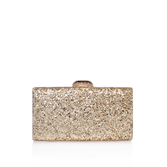 Gigi Clutch - predominant colour: gold; occasions: evening; type of pattern: standard; style: clutch; length: hand carry; size: small; material: faux leather; embellishment: glitter; pattern: plain; finish: metallic; season: a/w 2016; wardrobe: event