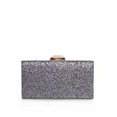 Gigi Clutch - predominant colour: silver; occasions: evening; type of pattern: standard; style: clutch; length: hand carry; size: small; material: faux leather; embellishment: glitter; pattern: plain; finish: metallic; season: a/w 2016; wardrobe: event