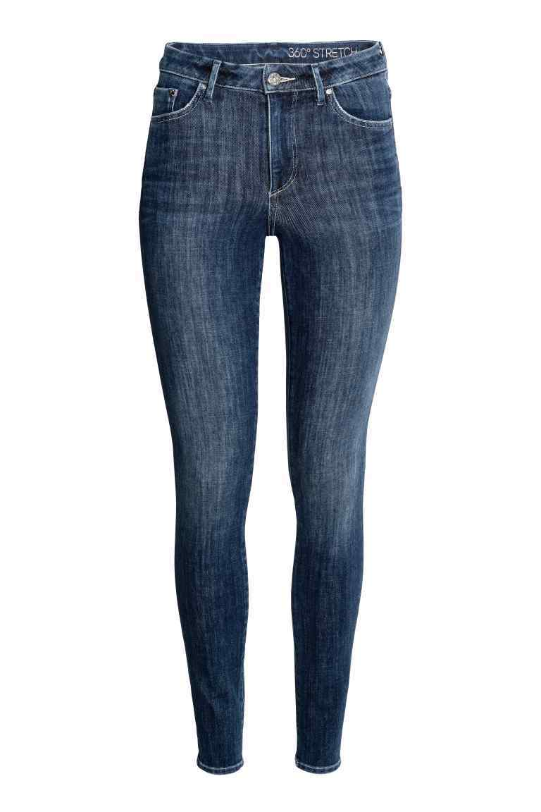 360° Skinny High Jeans - style: skinny leg; length: standard; pattern: plain; waist: high rise; pocket detail: traditional 5 pocket; predominant colour: navy; occasions: casual; fibres: cotton - stretch; jeans detail: whiskering; texture group: denim; pattern type: fabric; season: a/w 2016