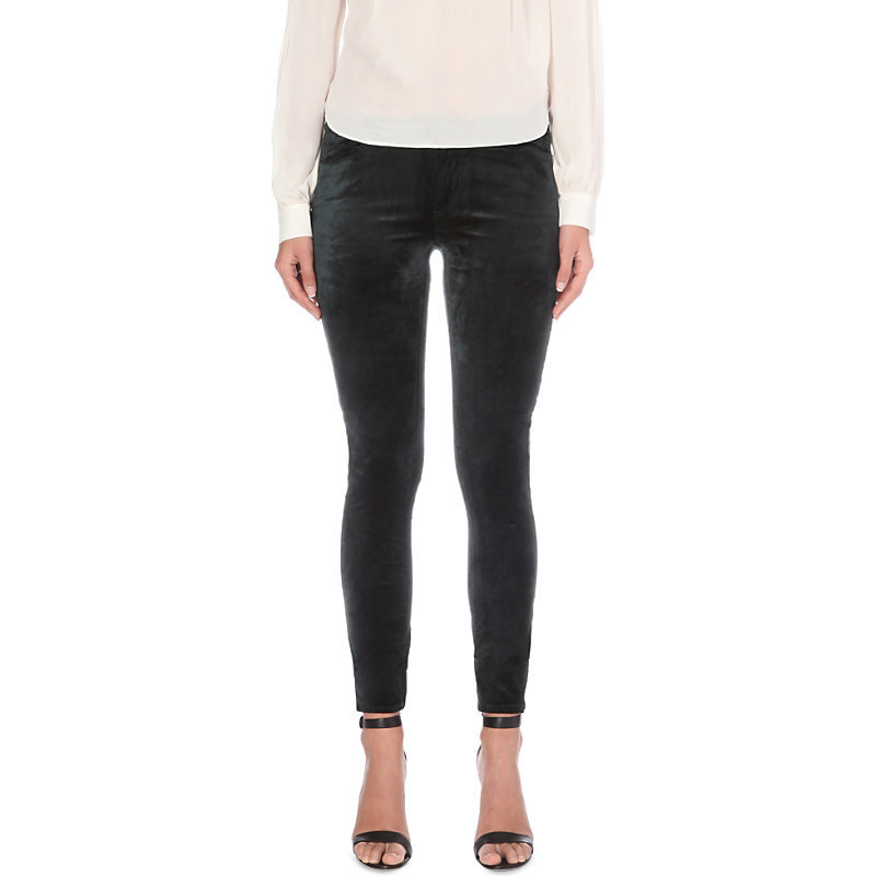 Verdugo Skinny Mid Rise Jeans, Women's, Black - style: skinny leg; pattern: plain; pocket detail: traditional 5 pocket; waist: mid/regular rise; predominant colour: black; occasions: casual; length: ankle length; fibres: cotton - stretch; pattern type: fabric; texture group: velvet/fabrics with pile; season: a/w 2016; wardrobe: highlight