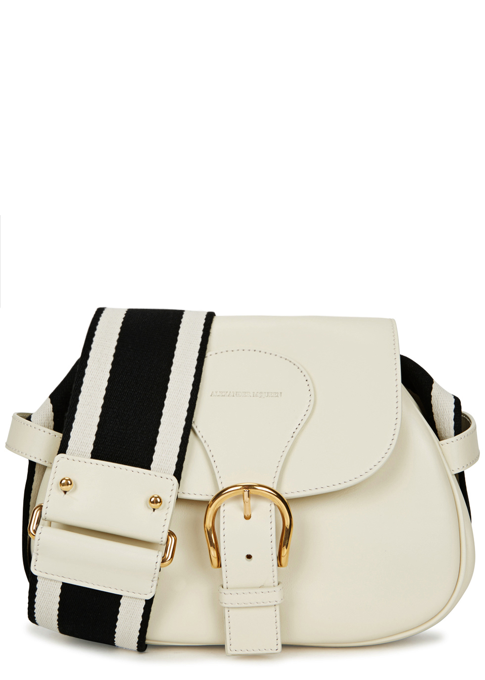 Ivory Leather Shoulder Bag - predominant colour: ivory/cream; occasions: casual, creative work; type of pattern: light; style: shoulder; length: shoulder (tucks under arm); size: small; material: leather; pattern: plain; finish: plain; wardrobe: investment; season: a/w 2016