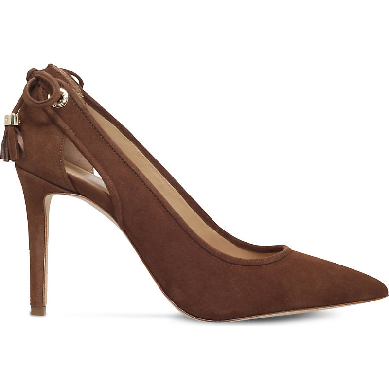 Jennings Suede Pump, Women's, Eur 40.5 / 7.5 Uk Women, Camel - predominant colour: tan; occasions: evening; material: suede; heel height: high; heel: stiletto; toe: pointed toe; style: courts; finish: plain; pattern: plain; season: a/w 2016; wardrobe: event