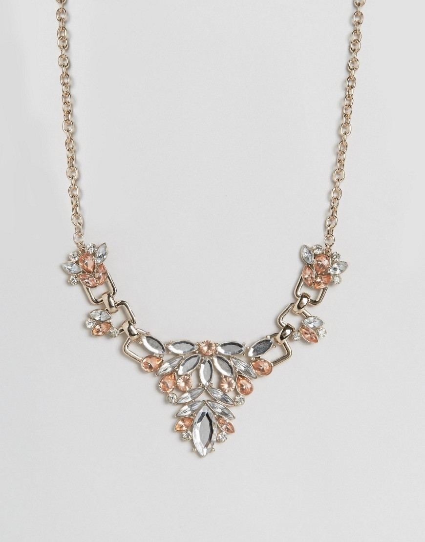 Statement Necklace Vintage Rose/Gold - predominant colour: gold; occasions: evening, occasion; style: choker/collar/torque; length: mid; size: standard; material: chain/metal; finish: metallic; embellishment: chain/metal; season: a/w 2016